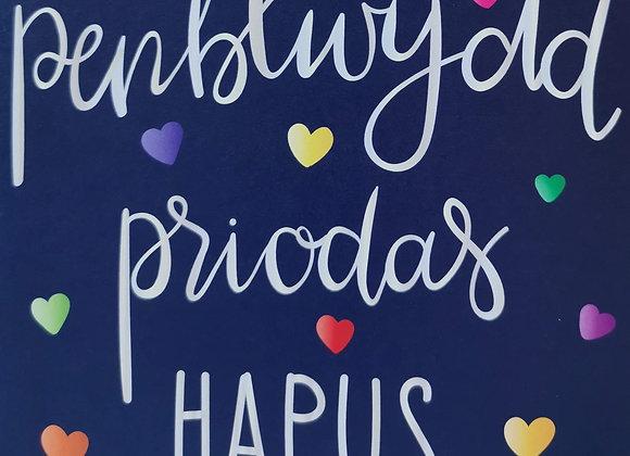 Penblwydd Priodas Hapus