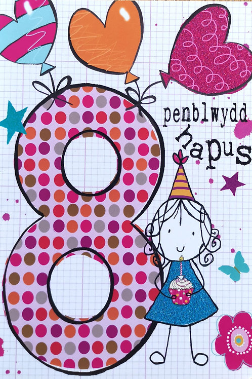 Penblwydd Hapus 8Oed