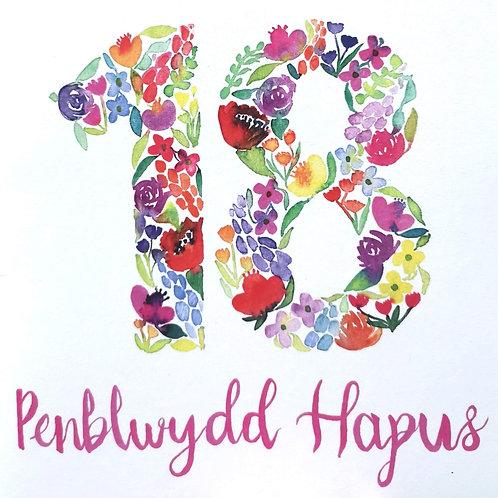 Penblwydd Hapus 18 Oed