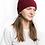 Thumbnail: Het wlan coch tywyll Miss Sparrow dark red bobble hat