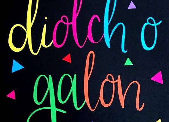 Diolch o Galon
