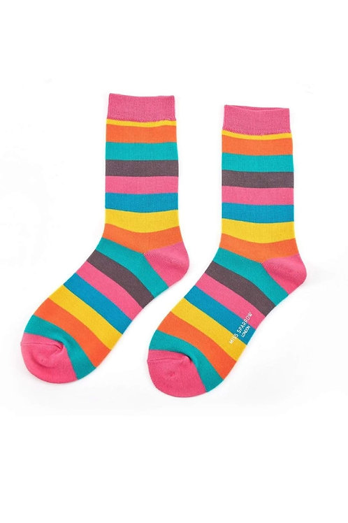 Sanau Thick Stripes Miss Sparrow Socks