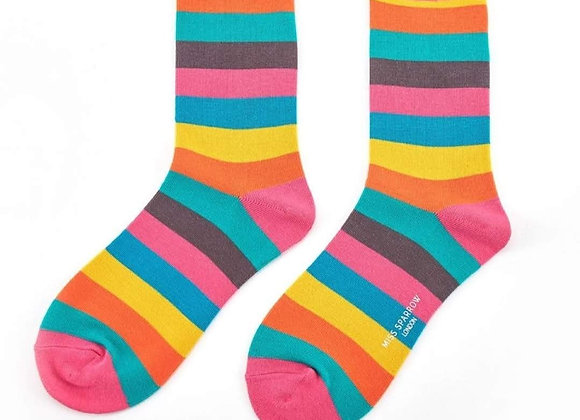 Sanau Thick Stripes Miss Sparrow Socks