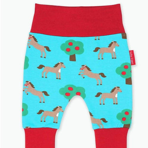 Trowsus Ioga Ceffylau Toby Tiger Horses Yoga Pants