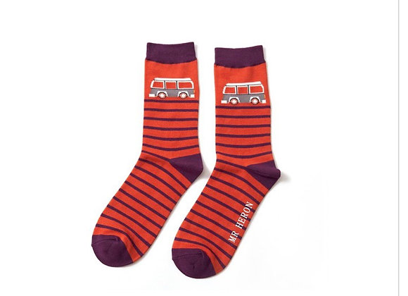 Sanau Camper Oren Mr Heron Orange Camper Socks
