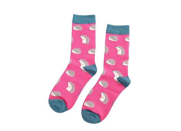 Sanau Pinc Draenogod Miss Sparrow Hot Pink Hedgehog Socks
