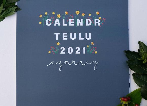 Calendr Teulu 2021 gan Heledd Owen (maint A3)