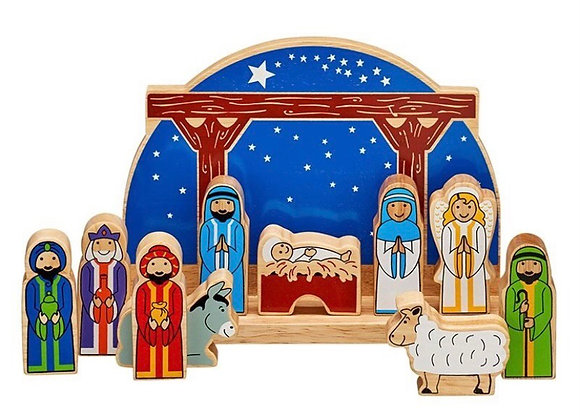 Set Geni'r Baban Iesu Lanka Kade Junior Starry Night Nativity set