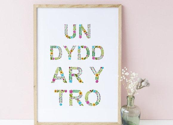 Print A4 Un dydd ar y tro (One day at a time)