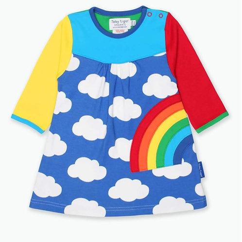 Ffrog Enfys Toby Tiger Rainbow Dress