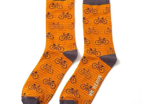 Sanau Bikes & Stripes Mr Heron Socks