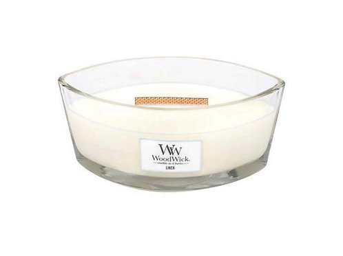 Cannwyll Linen Woodwick Candle