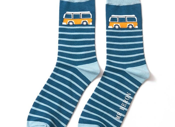 Sanau Camper StripesMr Heron Socks