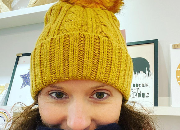 Het Wlan Mwstard Miss Sparrow Mustard Woolly Hat