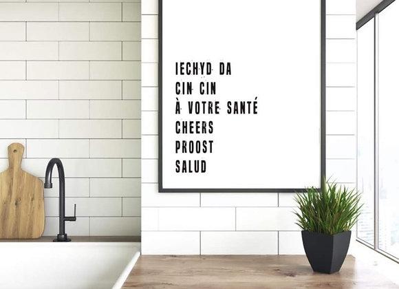 Print 'Iechyd Da'