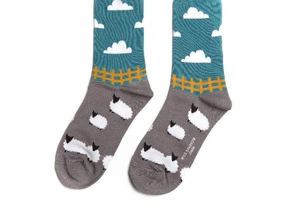 Sanau Sheep Meadow Socks Miss Sparrow Socks