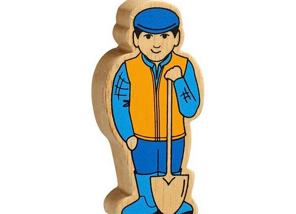 Ffermwr melyn a glas /Yellow and blue farmer