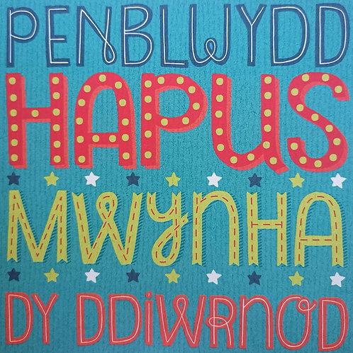 Penblwydd Hapus Mwynha Dy Ddiwrnod