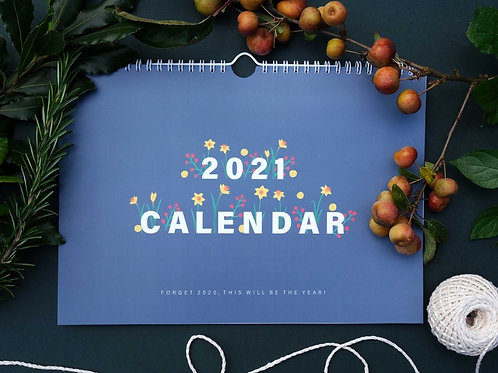 Botanical 2021 Calendar - English by Heledd Owen