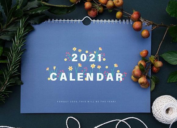 Botanical 2021 Calendar - English by Heledd Owen
