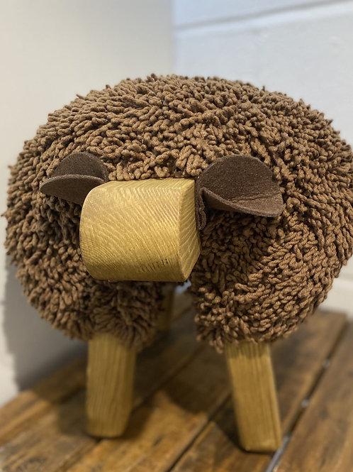 Ewemoo Footstool Brown/ Chocolate Brown