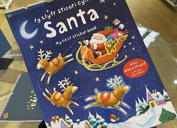 Fy Llyfr Sticeri Cyntaf Santa