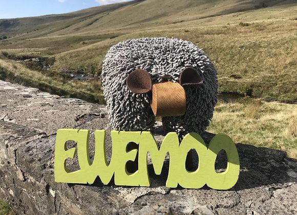 Ewemoo Footstool Paloma (llwyd golau/ light grey)