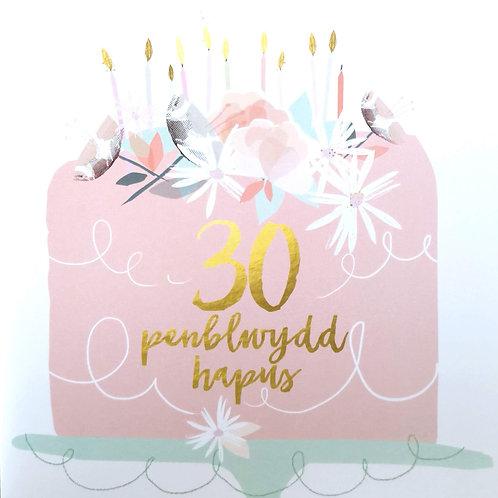 Penblwydd Hapus 30