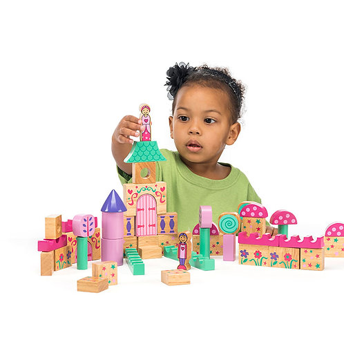 Blociau Adeiladu Castell Tylwyth Teg Lanka Kade Fairy Tale Building Blocks