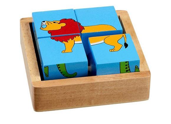 Pos blociau anifeiliaid y byd /World animals block puzzle
