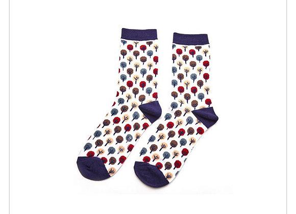 Sanau Coed Miss Sparrow Tree Socks