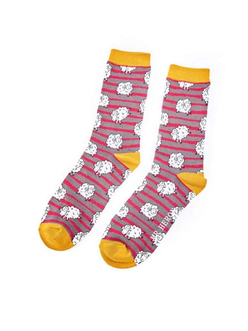 Sanau Sheep & Stripes Mr Heron Socks