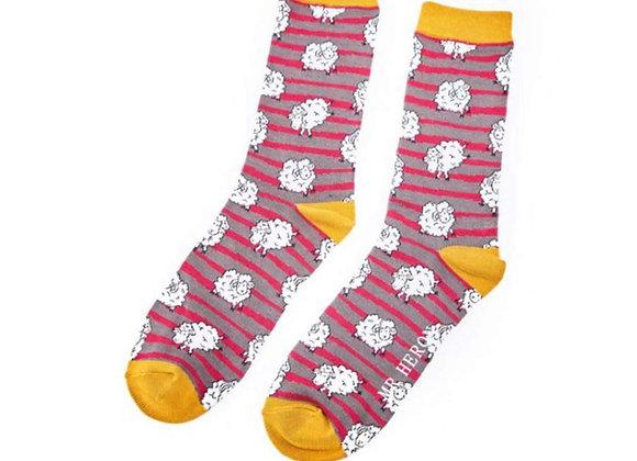 Sanau Sheep & Stripes Mr Heron Socks