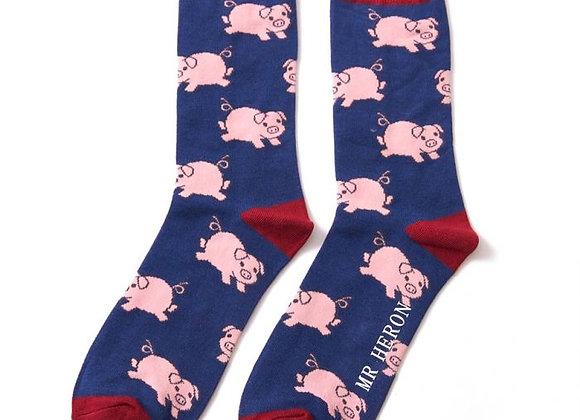 Sanau Piglets Mr Heron Socks