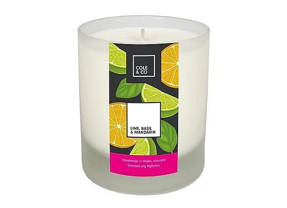 Cannwyll Lime, Mandarin & Basil Candle