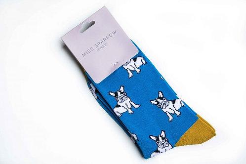 Sanau Turqoise Bulldogs Mr Heron Socks