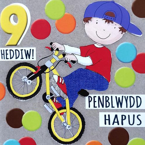 Penblwydd Hapus 9 Oed
