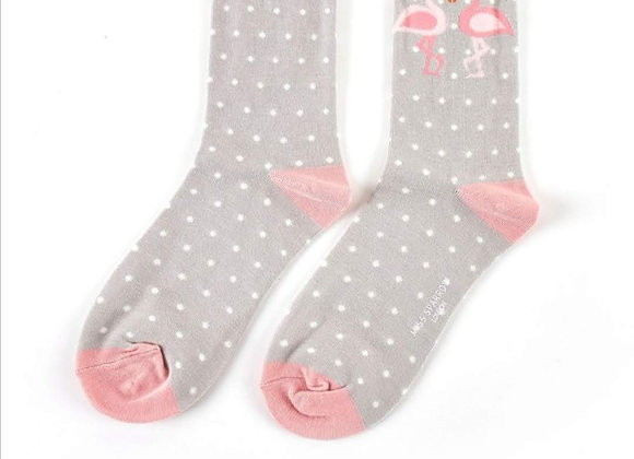 Sanau Kissing Flamingos Miss Sparrow Socks