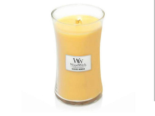 Cannwyll Seaside Mimosa Woodwick Candle