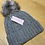 Thumbnail: Het wlan llwyd Miss Sparrow grey woolly hat