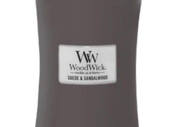 Cannwyll Suede & Sandalwood Woodwick Candle
