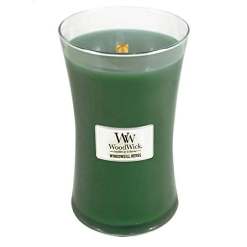 Cannwyll Windowsill Herbs Woodwick Candle