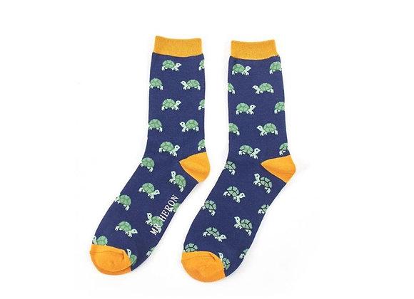 Sanau Crwbanod Mr Heron Turtle Socks