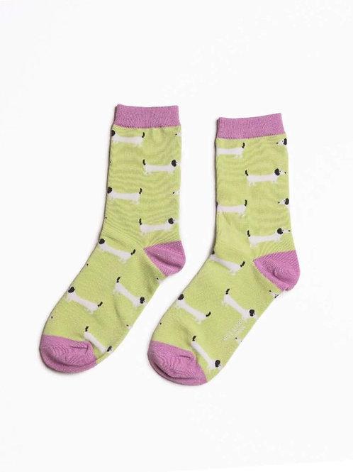 Sanau Sausage Dogs Miss Sparrow Socks