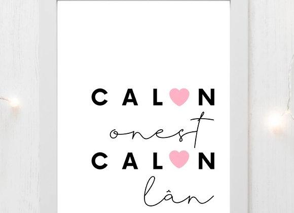 """Print Calon Onest,Calon Lân(10""""x8"""")"""