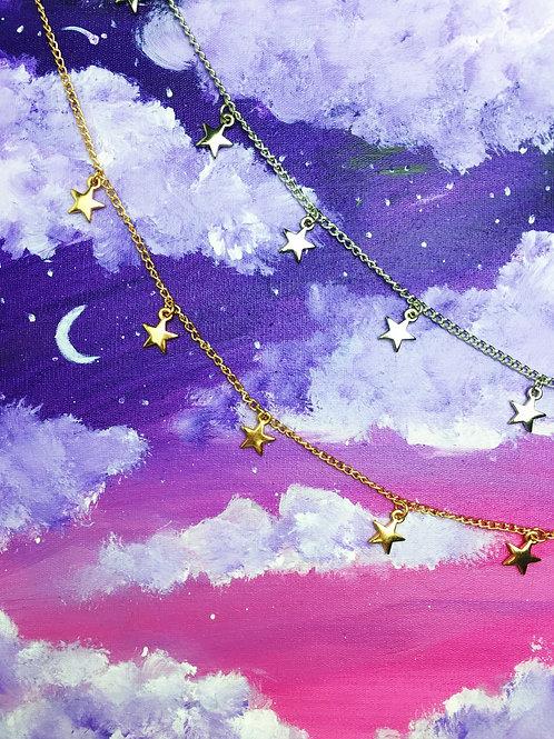 Colar Choker Estrelas 🌟