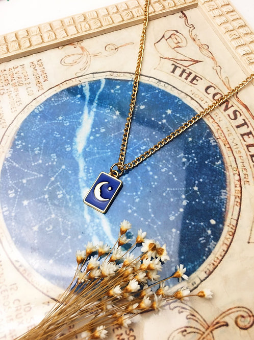 Colar Tarot Lua Dourado