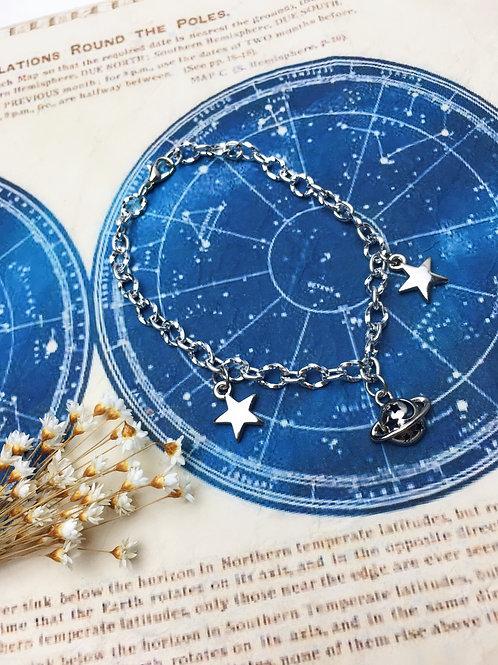 Pulseira Planeta e Estrelas