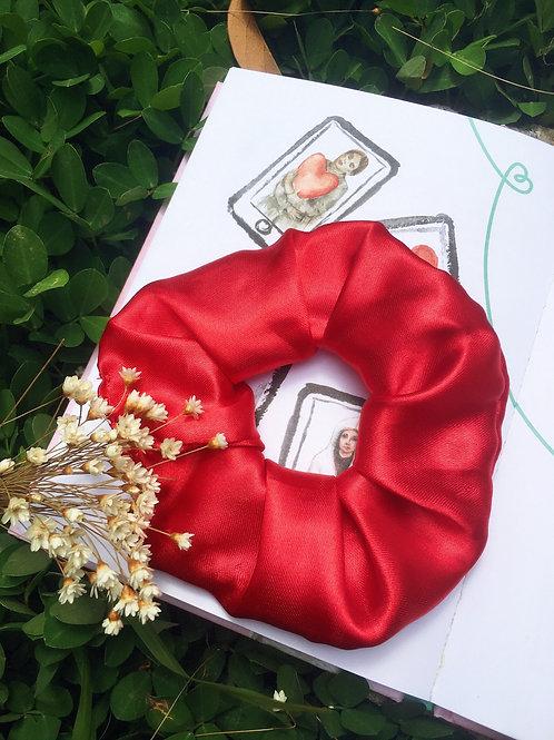 Scrunchie Cetim Vermelha