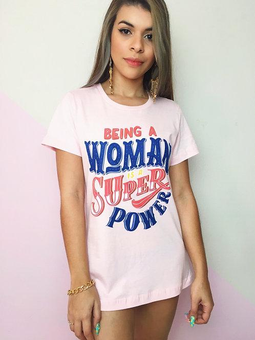 T-Shirt Super Power Woman